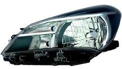 Farol Esquerdo Toyota Yaris 5P 14- Mascara Preta