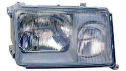 Farol Direito Mercedes W124 Berlina / Coupe / Cabrio 85-93 Mascara Escura