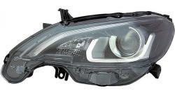 Farol Esquerdo Led Fundo Negro Peugeot 108 15-