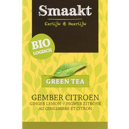 Ceai verde cu ghimbir si lamaie bio 20 plicuri Smaakt