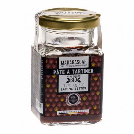 Crema de ciocolata belgiana cu lapte si alune de padure, artizanala, Madagascar, eco 150g, Millesime
