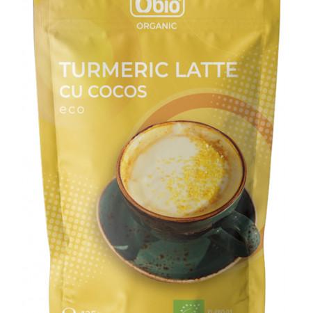 Turmeric latte cu cocos bio 125g Obio