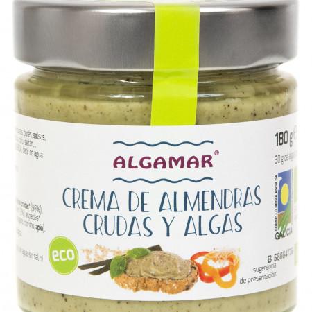 Crema raw de migdale cu alge marine eco 180g Algamar