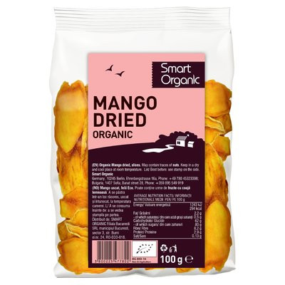 Mango uscat felii eco 100g Smart Organic