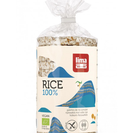 Rondele de orez expandat cu sare LIMA eco 100g Lima