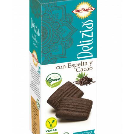 Biscuiti din spelta cu cacao, indulciti cu agave bio 135g Bio Darma