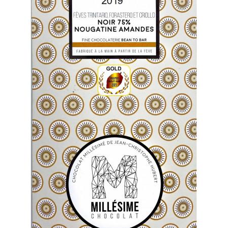 Ciocolata belgiana cu umplutura de migdale, artizanala, Panama, eco 70g, Millesime