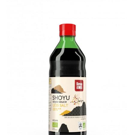 Sos De Soia Shoyu Eco Cu Continut Redus De Sare 250ml Lima