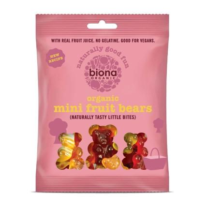 Jeleuri mini ursuleti - fructe eco 75g BIONA