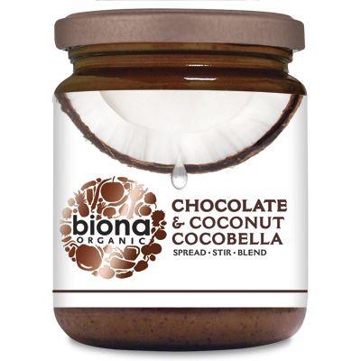 Unt de cocos cu ciocolata Cocobella eco 250g Biona