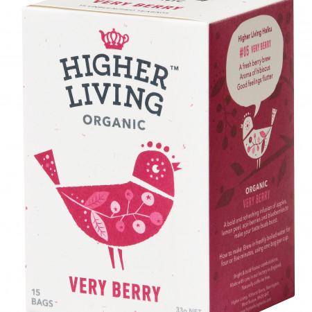 Ceai de fructe VERY BERRY eco, 15 plicuri, Higher Living