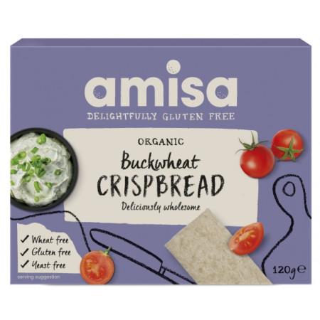 Crispbread (painici) din hrisca integrala fara gluten bio 120g Amisa