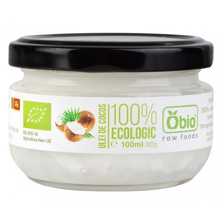 Ulei de cocos virgin raw bio 100ml Obio