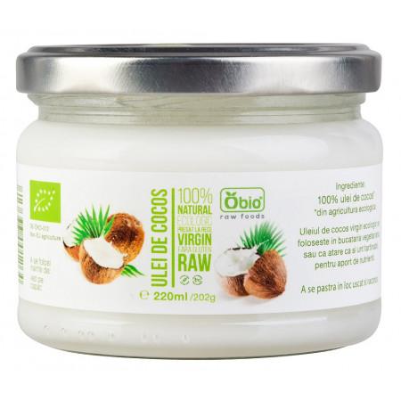 Ulei de cocos virgin raw bio 220ml OBIO