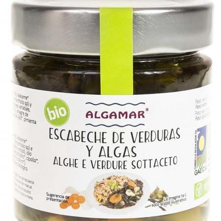 Escabeche de legume si alge marinate eco 190g Algamar