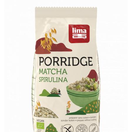 Porridge Express cu matcha si spirulina fara gluten bio 350g Lima