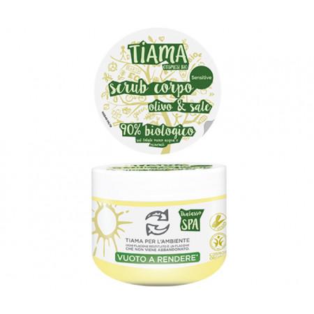Scrub pentru corp cu extract de maslin si sare bio 250ml Tiama