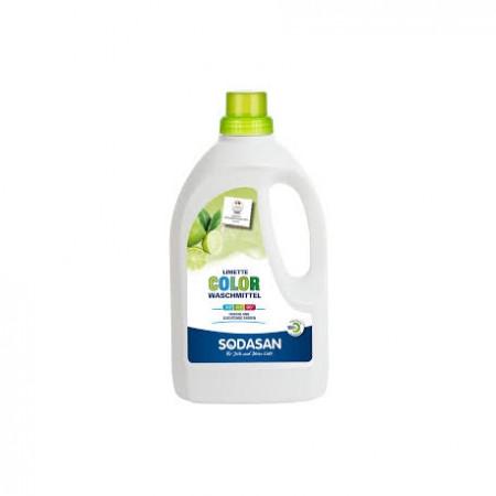Detergent bio lichid color 1.5L lime SODASAN