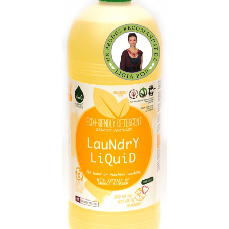 Biolu detergent ecologic pt. rufe albe si colorate portocale 1L