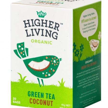 Ceai verde - COCOS - eco, 20 plicuri, Higher Living