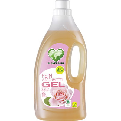 Detergent Gel bio pentru lana si matase - trandafir salbatic - 1.5L Planet Pure