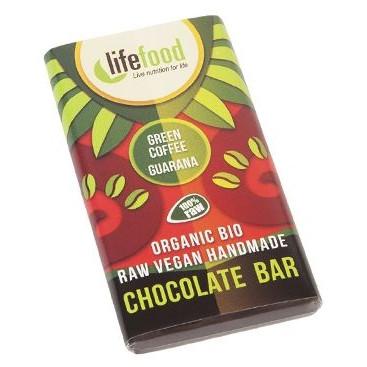 Lifefood MINI ciocolata cu guarana si cafea verde raw eco 15g