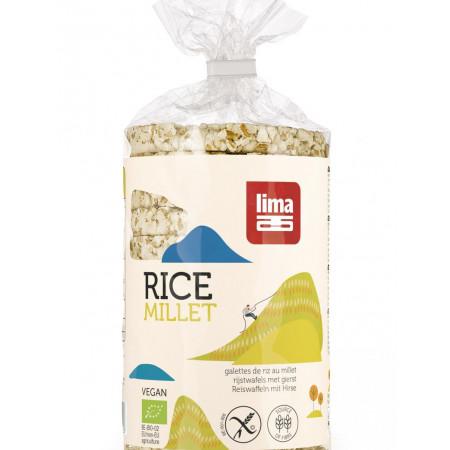 Rondele din orez expandat cu mei eco 100g Lima