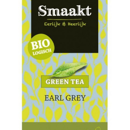 Ceai verde Earl Grey bio 20 plicuri Smaakt