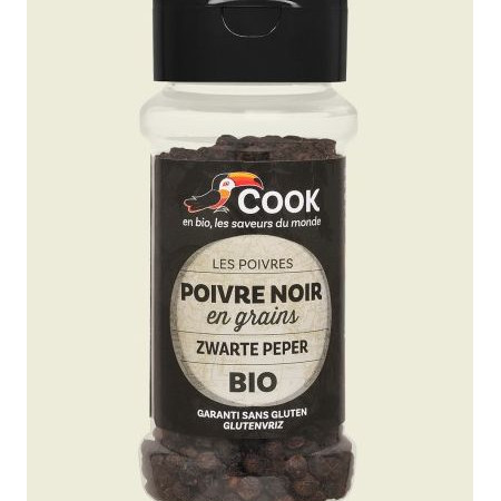 Piper negru boabe bio 50g Cook