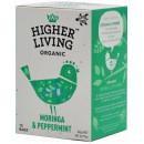 Ceai MORINGA si MENTA eco, 15 plicuri, Higher Living