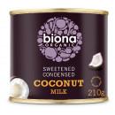 Lapte de cocos condensat bio 210g Biona