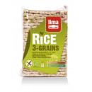 Rondele de orez expandat cu 3 cereale eco 130g Lima