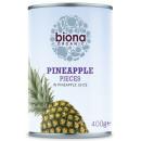 Ananas bucati in suc de ananas eco 400g Biona