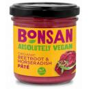 Pate vegetal cu sfecla rosie si hrean eco 130g Bonsan