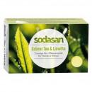 Sapun crema bio ceai verde si lime 100g Sodasan