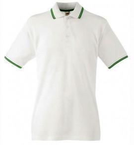 Мъжка тениска бяло и зелено изображения