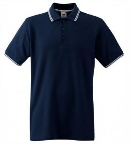 Мъжка тениска Navy и бяло изображения