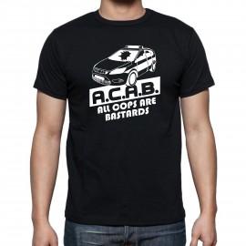 """Мъжка тениска """"ACAB POLICE CAR"""" изображения"""