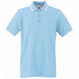 Мъжка тениска Небесно синьо и бяло