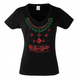 """Дамска тениска """"Тракийска шевица"""" изображения"""