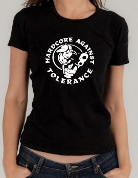 Дамска тениска Hardcore against tolerance изображения