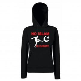"""Дамски суитчър """"NO ISLAM IN EUROPE"""""""