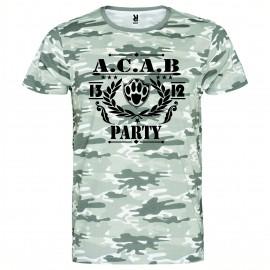 Камуфлажна тениска A.C.A.B. PARTY изображения
