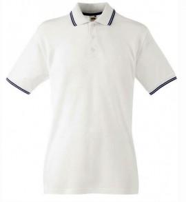 Мъжка тениска - Бяло и синьо изображения