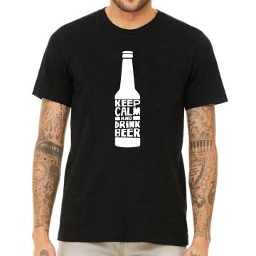 Мъжка тениска Keep calm and drink beer