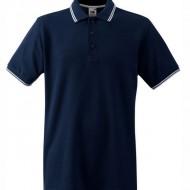 Мъжка тениска Navy и бяло