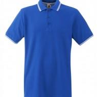 Мъжка тениска Кралско синьо и бяло