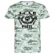 Камуфлажна тениска A.C.A.B. PARTY