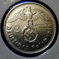 2 Райхсмарки от 1938 г.