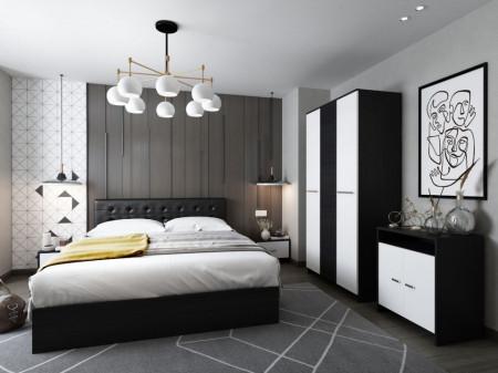 Dormitor Ruxandra Tapitat Wenge
